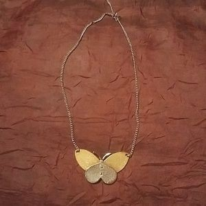 Vintage butterfly avon necklace